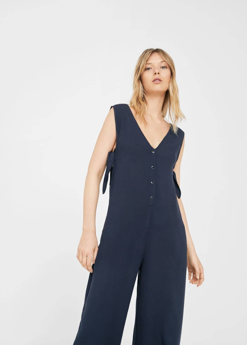 Pocket flowy jumpsuit | MANGO