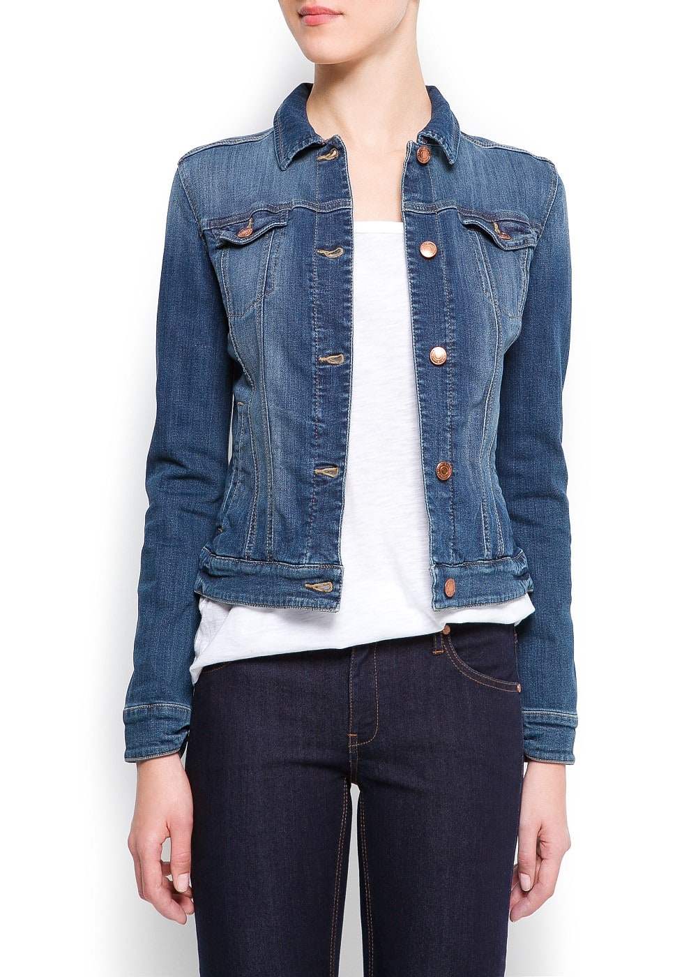 Distressed denim jacket | MANGO