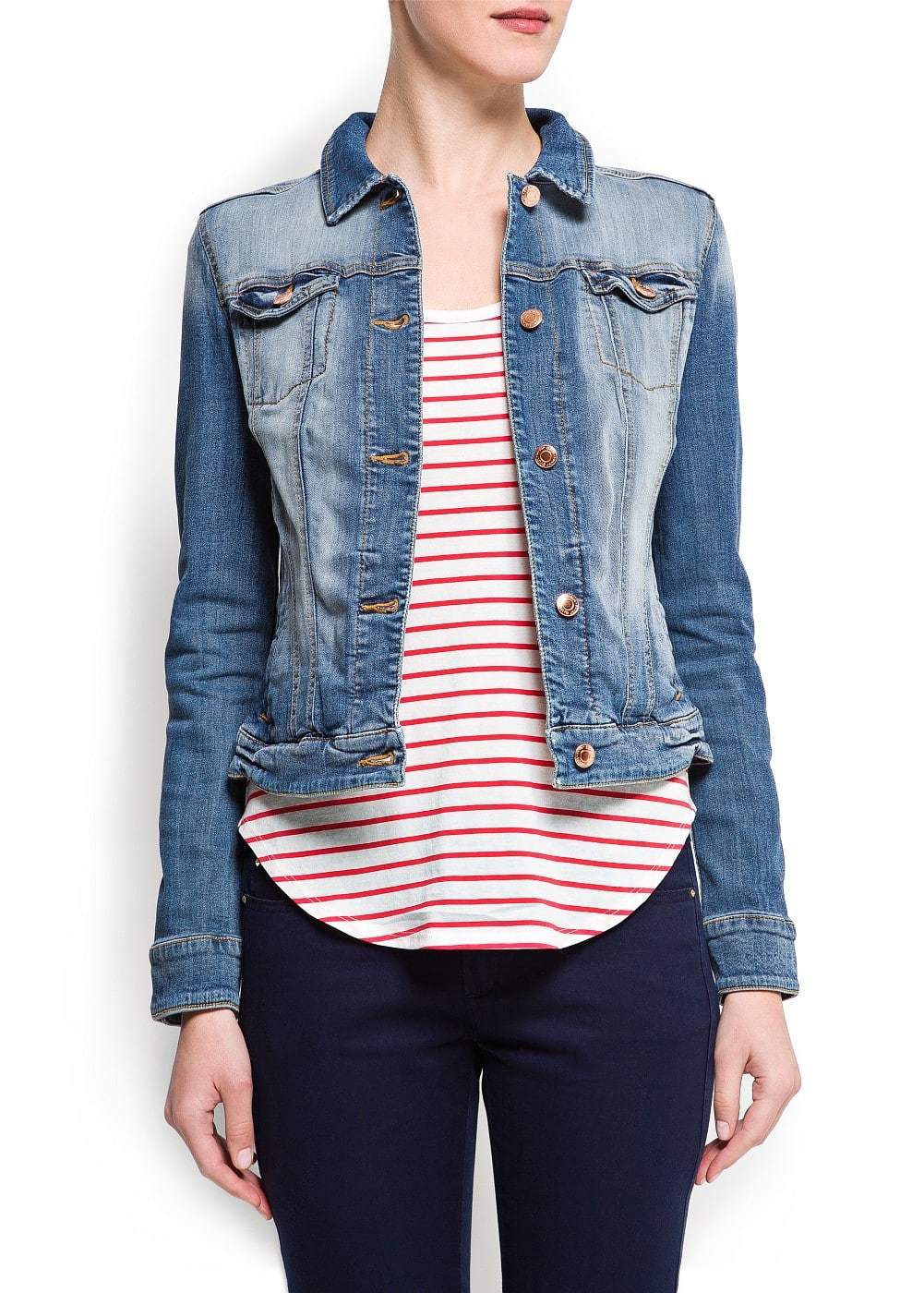 Light washed denim jacket | MANGO