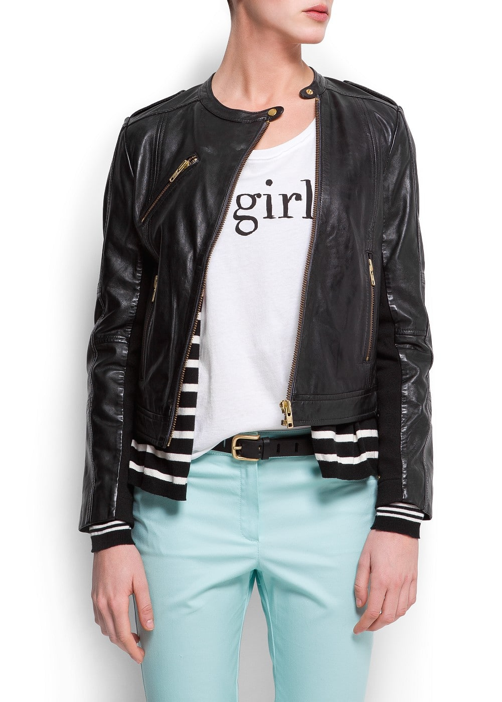 Biker leather jacket | MANGO