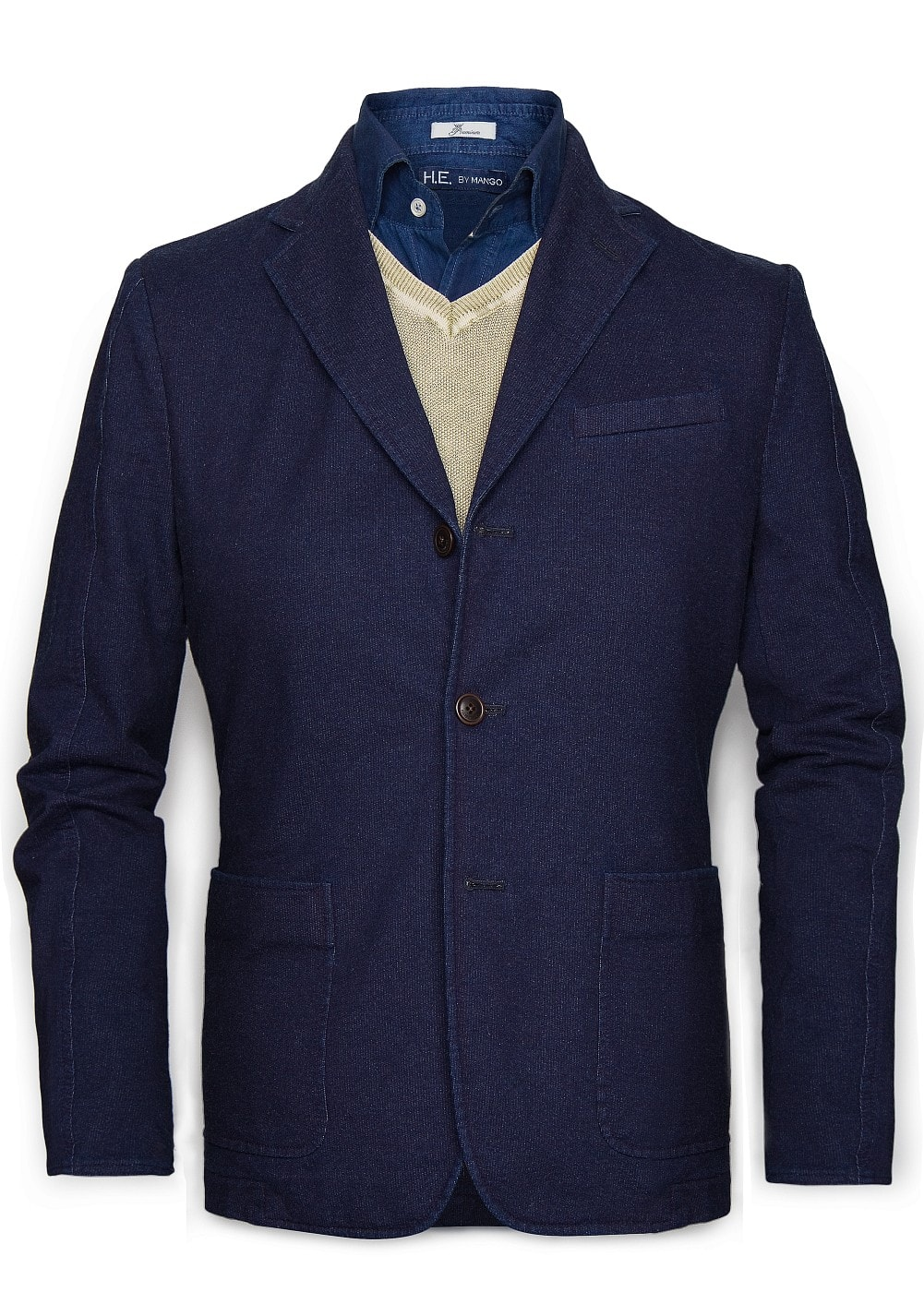 Elbow patches jersey blazer | MANGO MAN