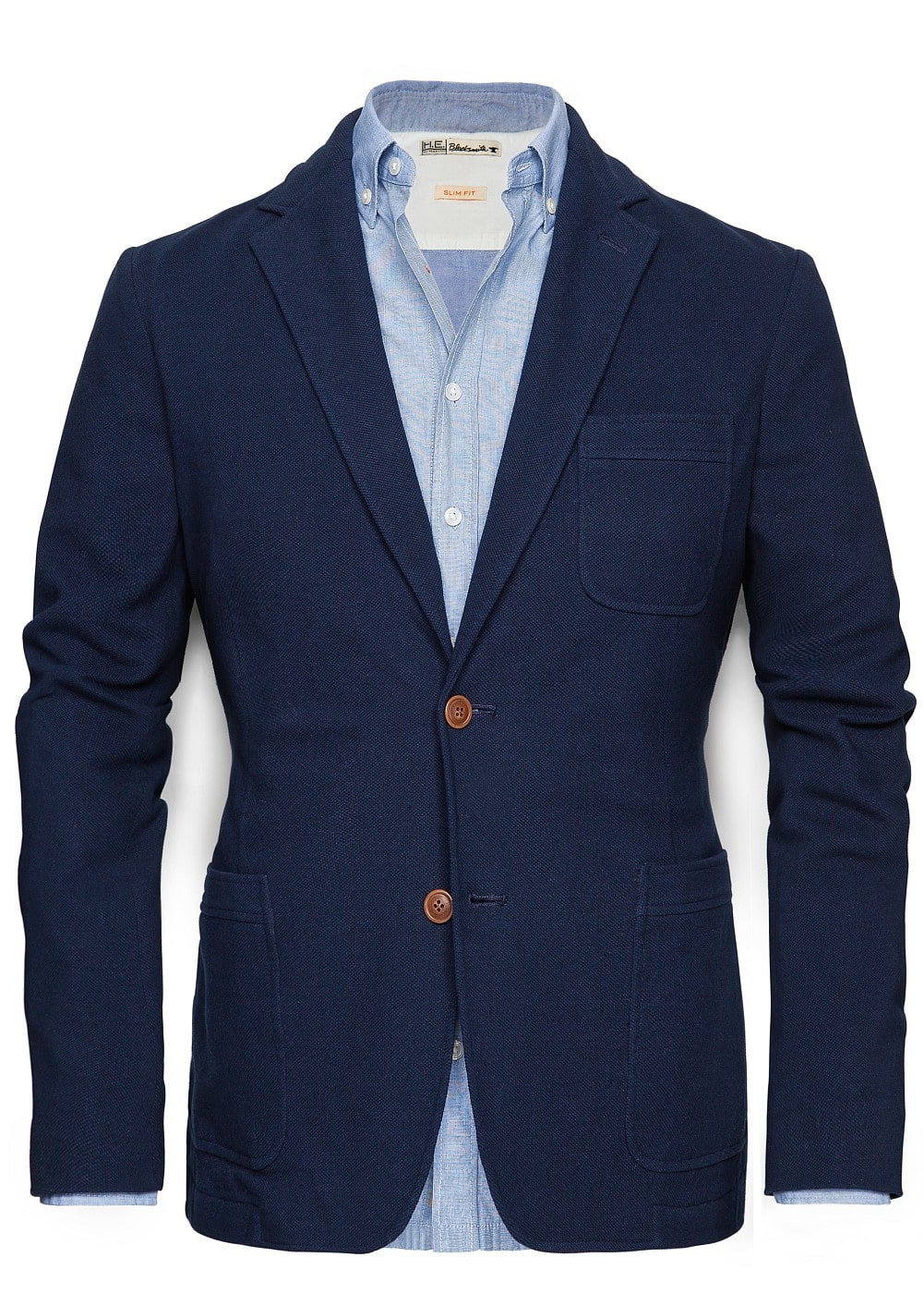 Elbow patches piqué blazer | MANGO