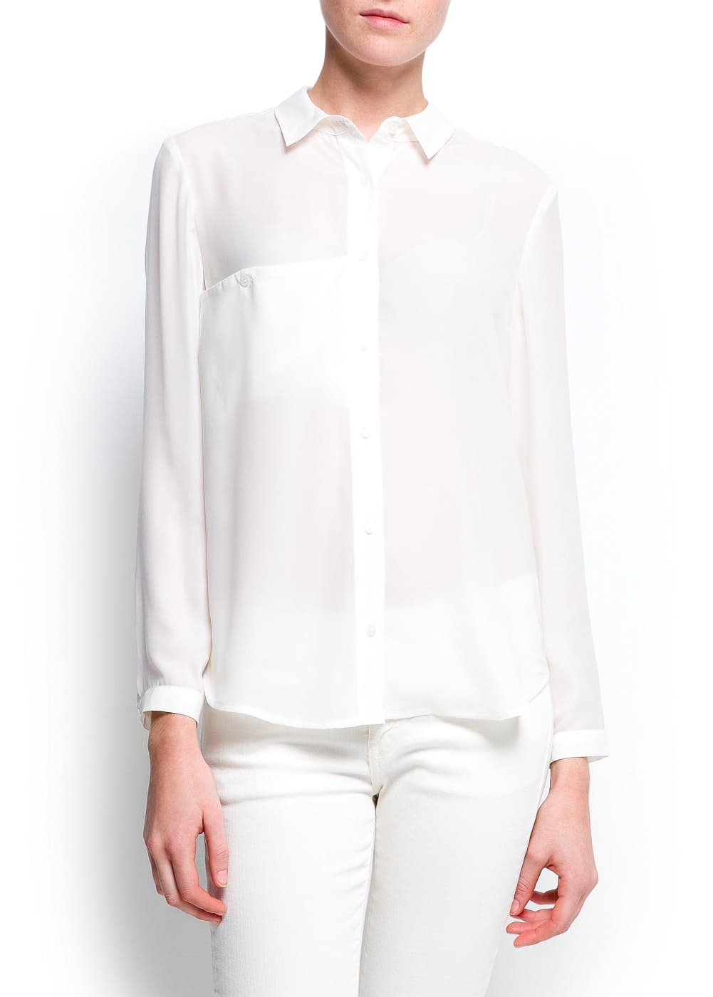Sheer loose-fit blouse | MANGO