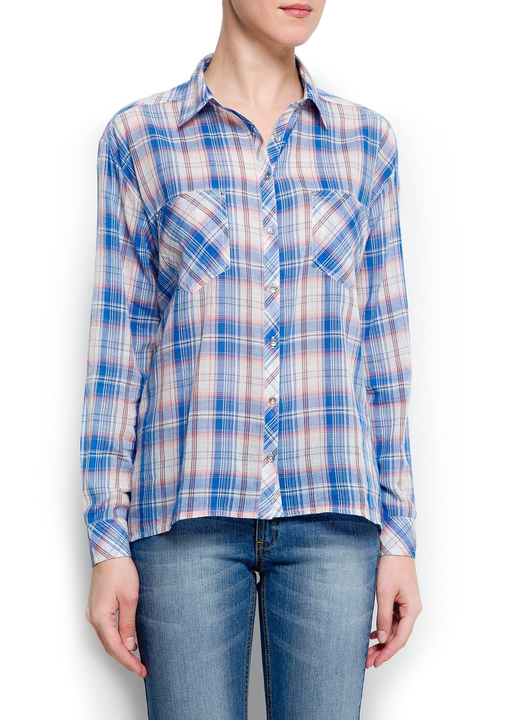 Checked boyfriend shirt | MANGO