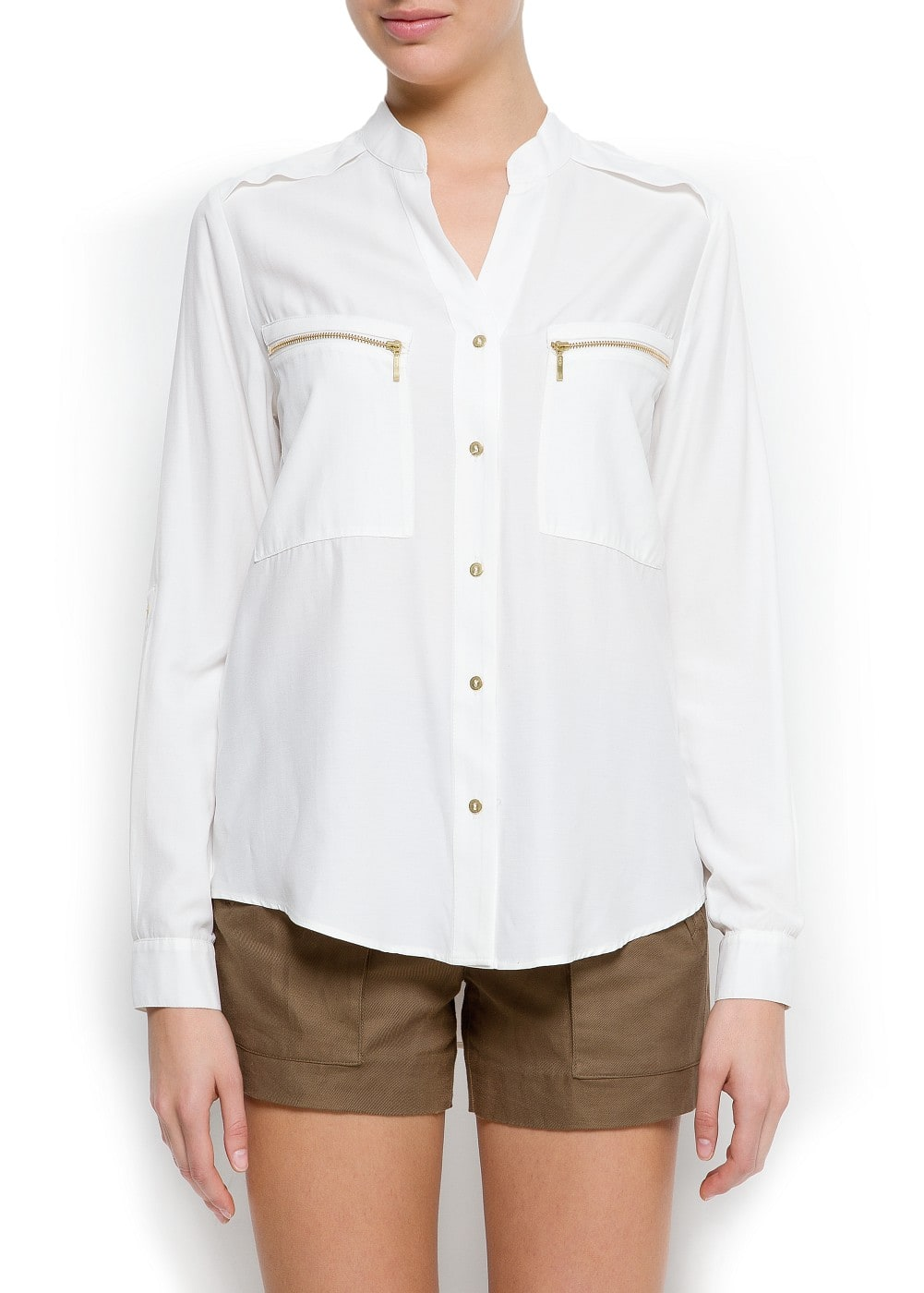 Zip pockets shirt | MANGO