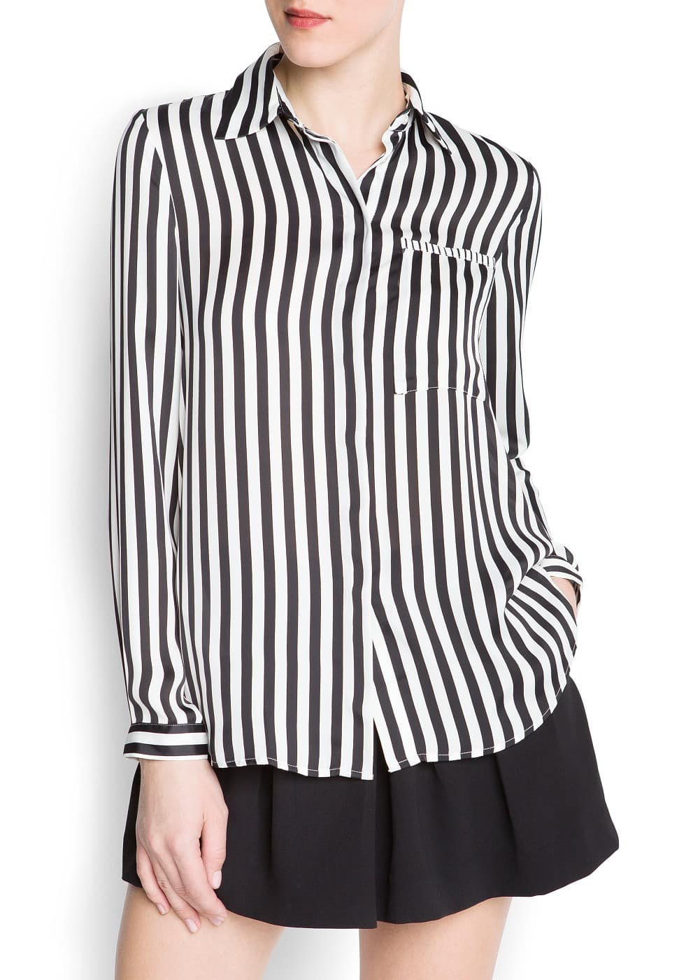 Striped pocket shirt | MANGO