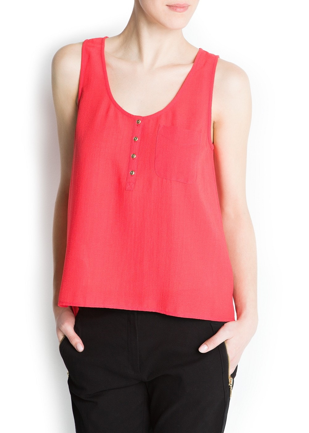 Pocket top | MANGO