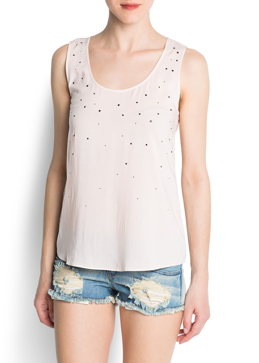 Strass embellished top | MANGO