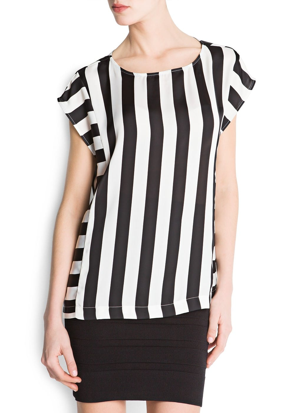 Loose-fit striped top | MANGO