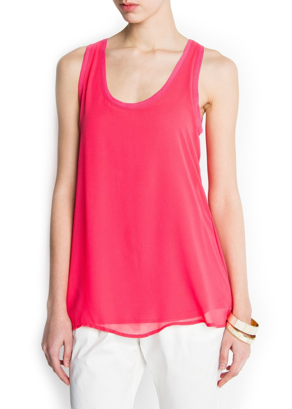 Back vent top | MANGO