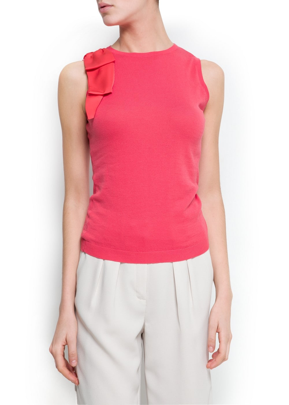 Bow knit top | MANGO