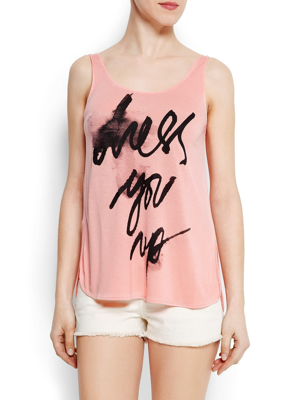 Message tank-top | MANGO