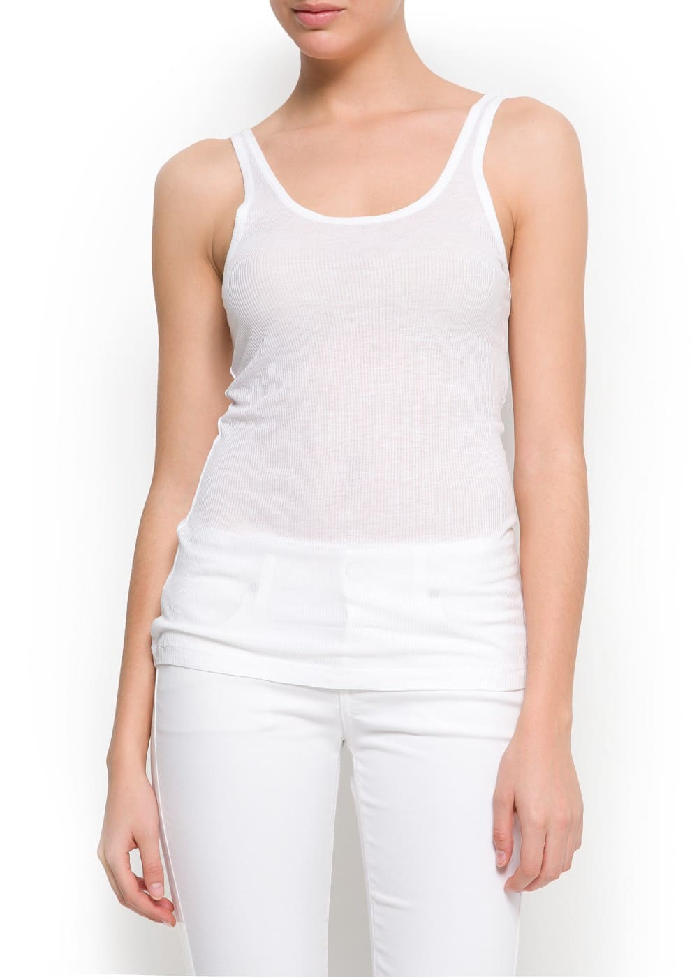 Ribbed tank top | MANGO