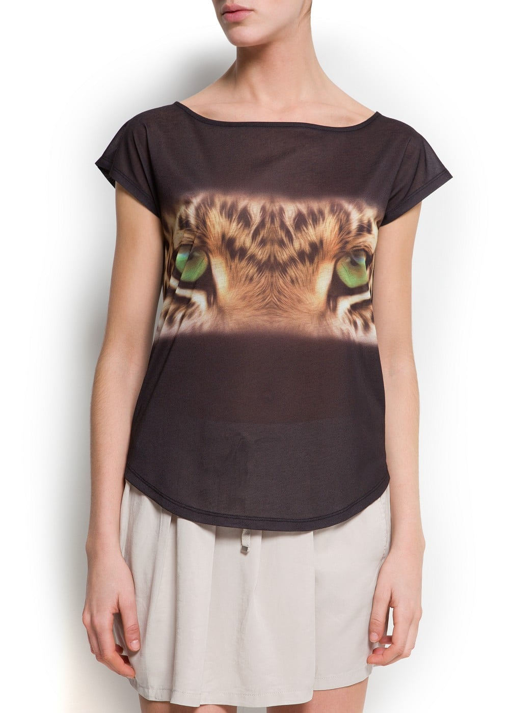 Tiger eye t-shirt | MANGO