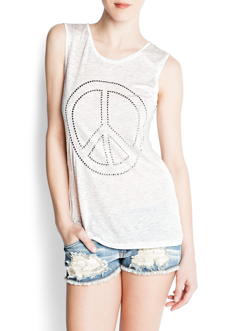 Peace t-shirt | MANGO