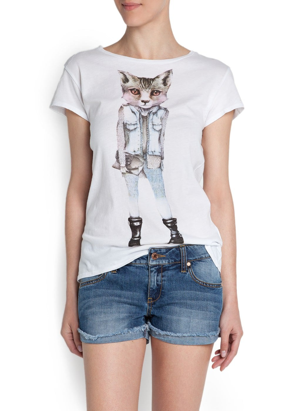 Printed picture t-shirt | MANGO