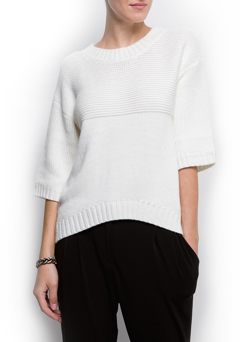 Oversized chunky knit sweater | MANGO
