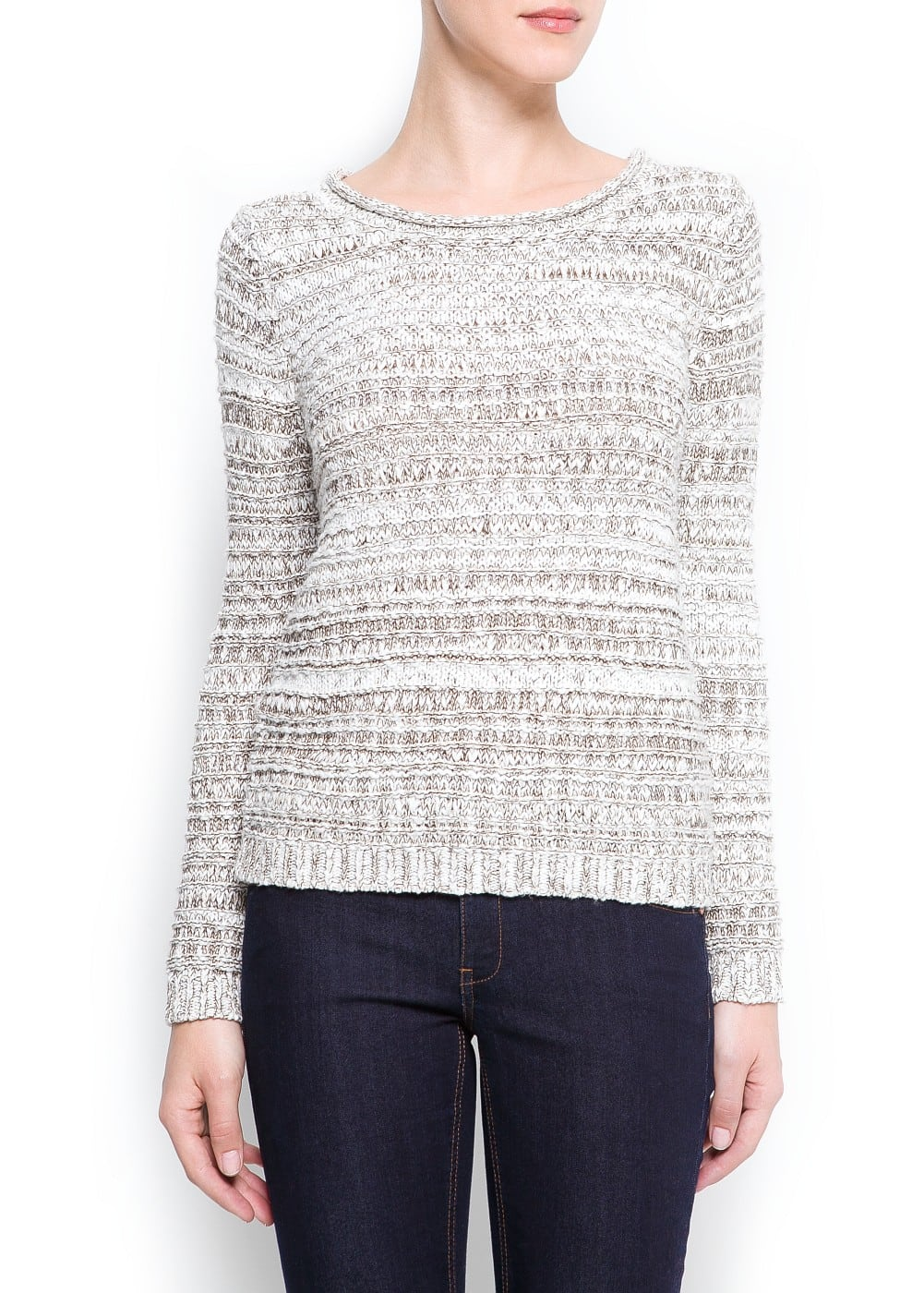 Textured lurex sweater | MANGO