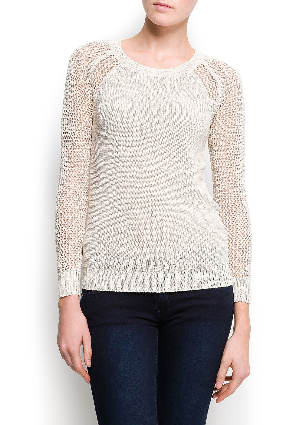 Openwork sleeves sweater | MANGO