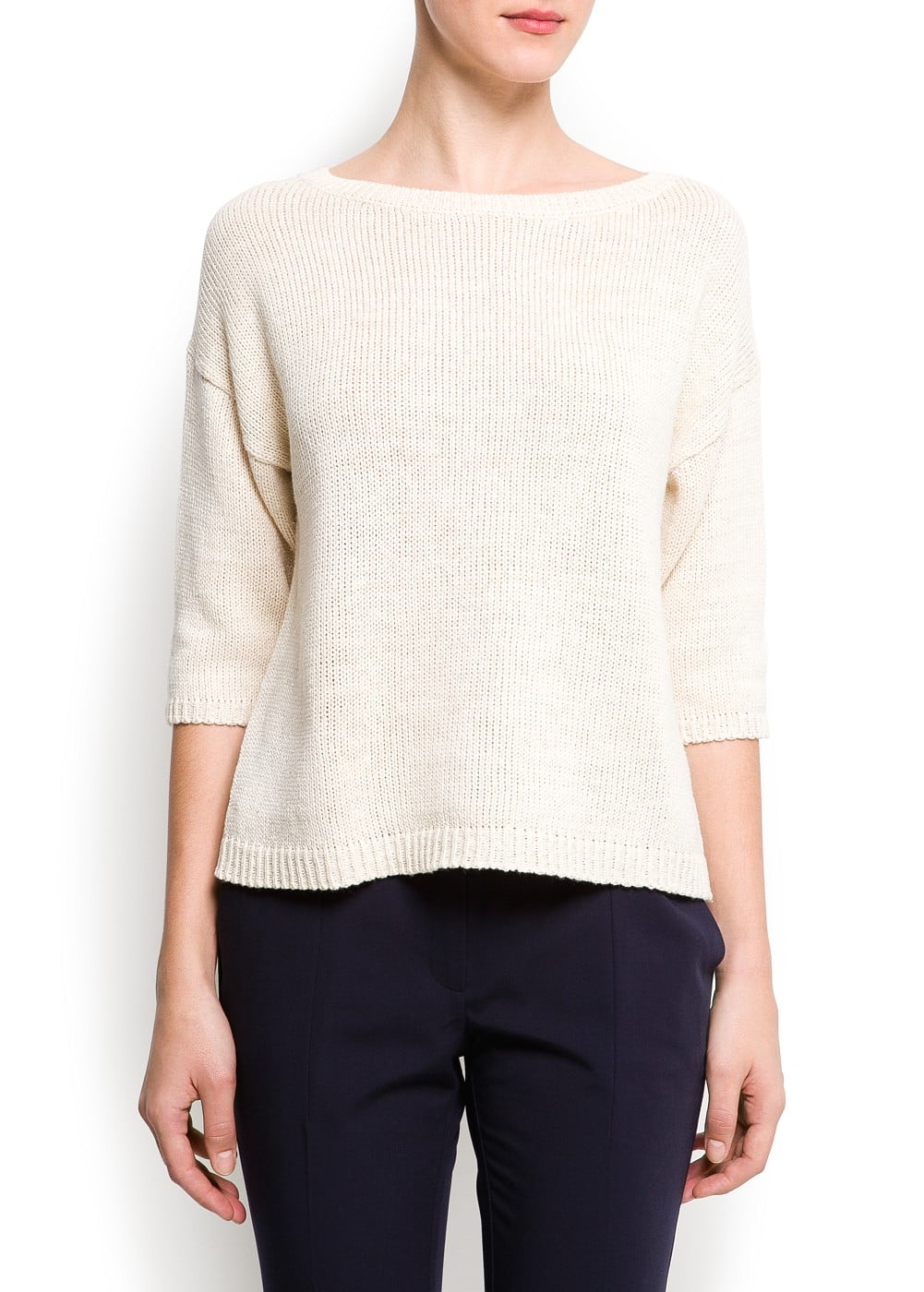 Metallic knitted sweater | MANGO