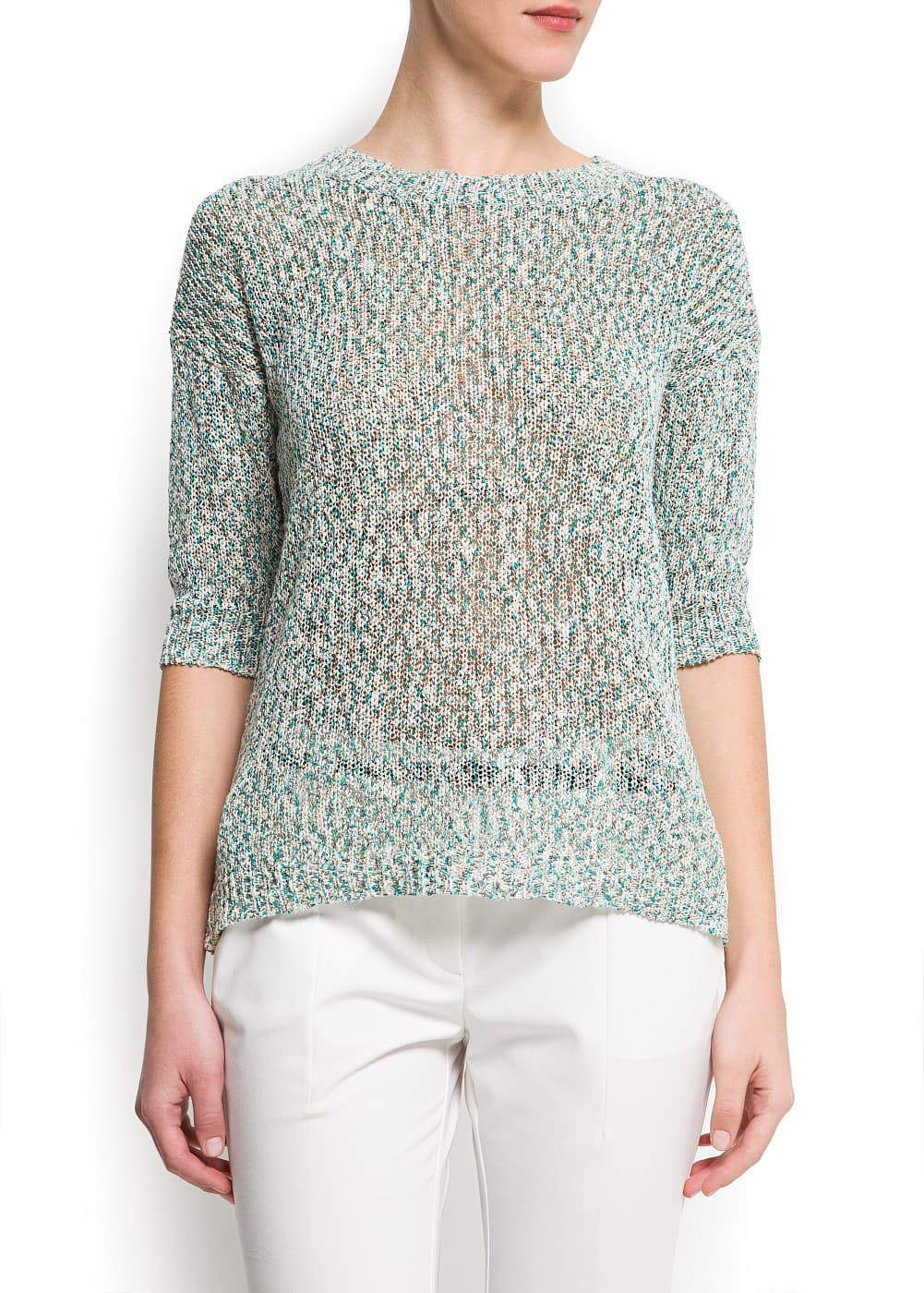 Metallic flecked sweater | MANGO