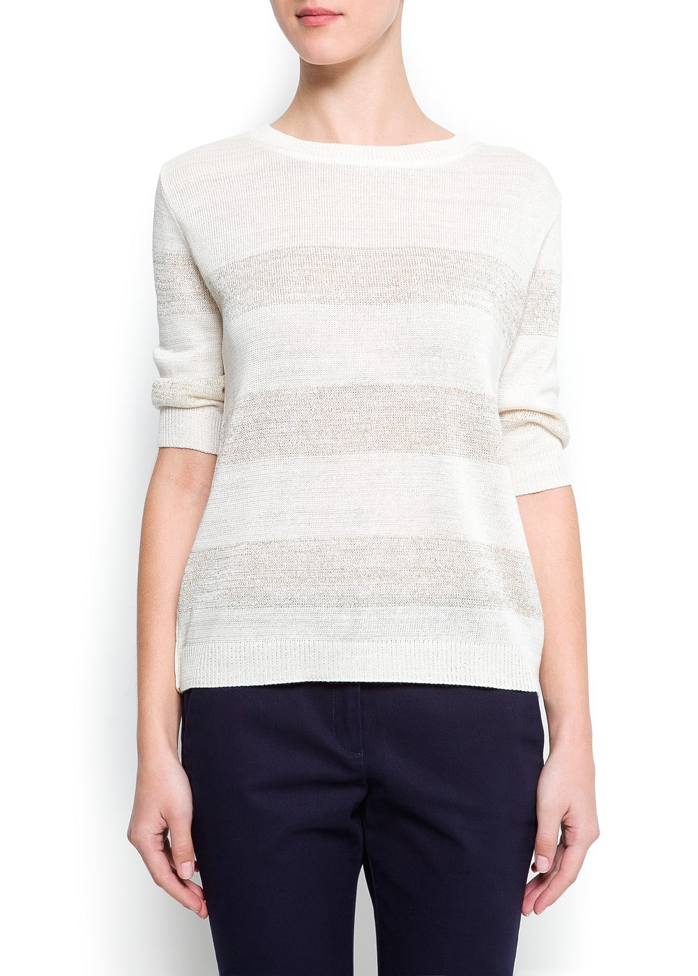 Metallic stripes sweater | MANGO