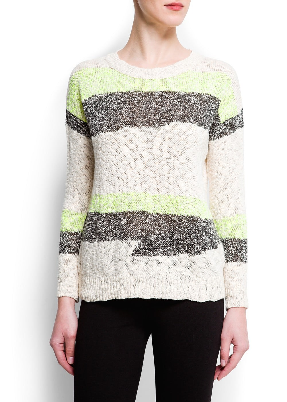 Mix knit sweater | MANGO