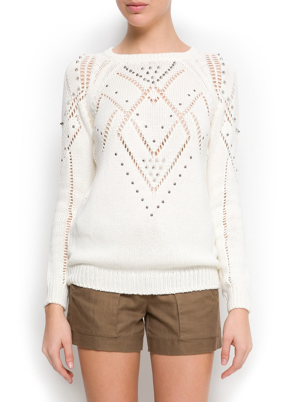 Studded sweater | MANGO