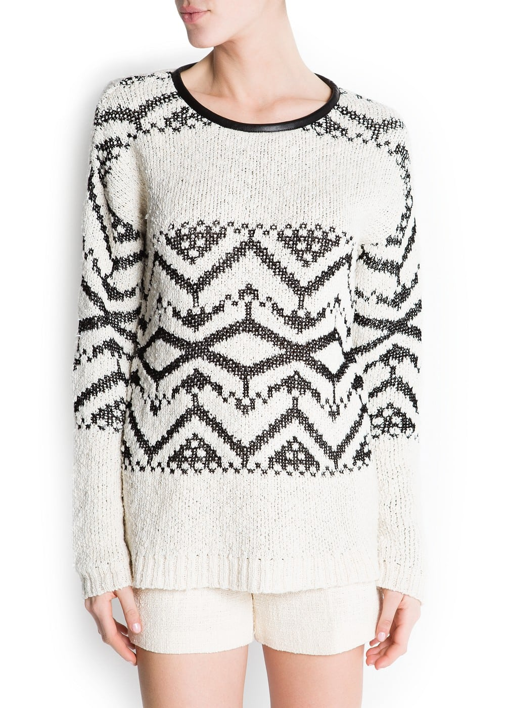 Tribal pattern sweater | MANGO