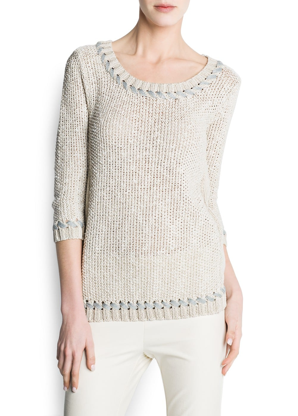 Lurex knit jumper | MANGO
