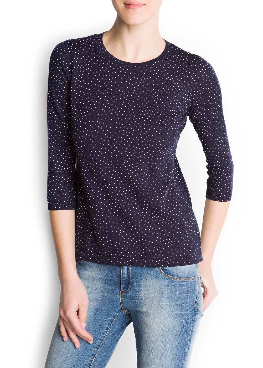 Polka-dots print sweater | MANGO