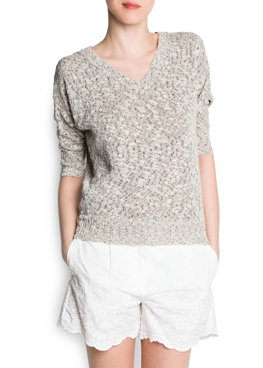 Cotton flecked jumper | MANGO