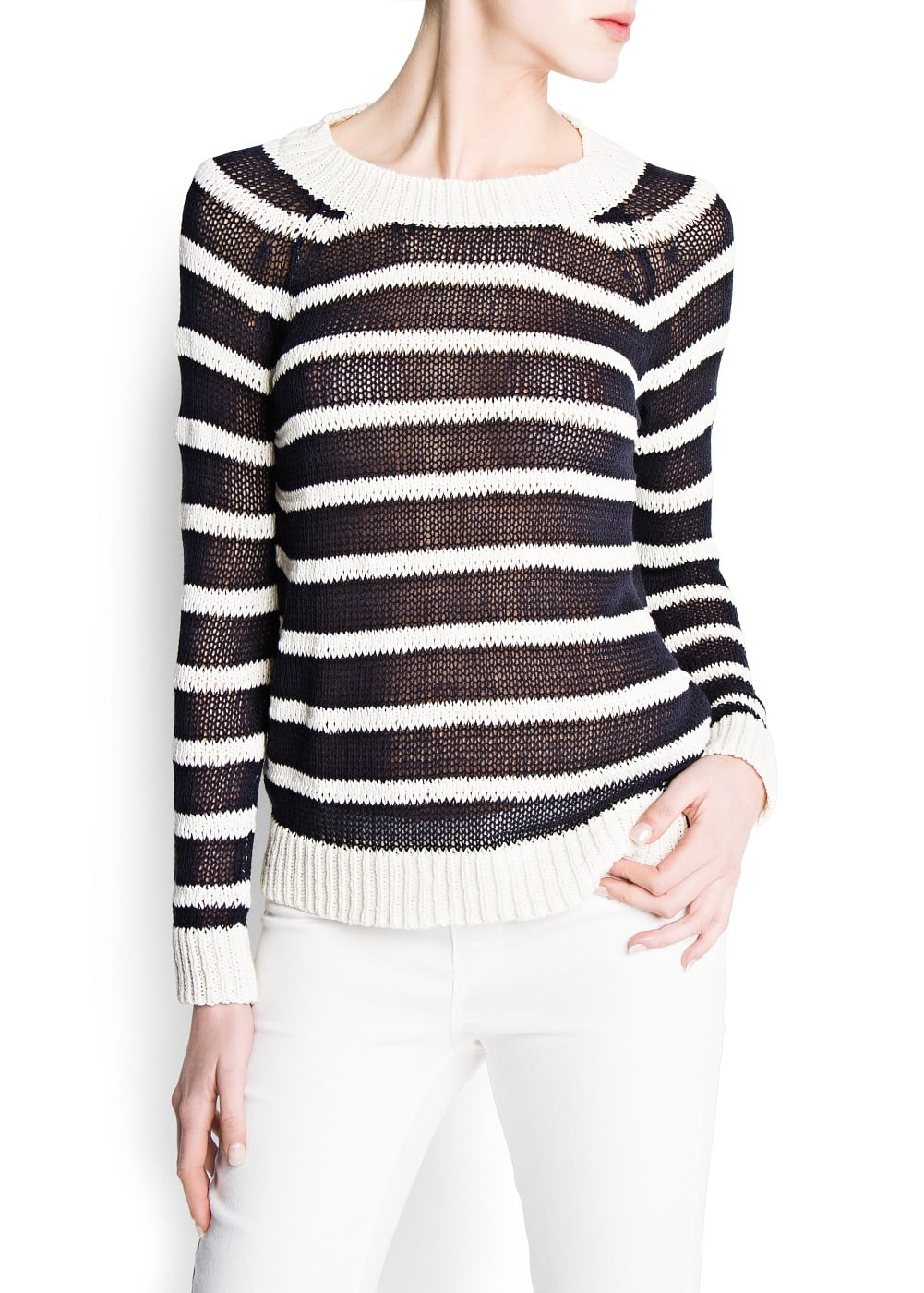 Striped knit jersey | MANGO