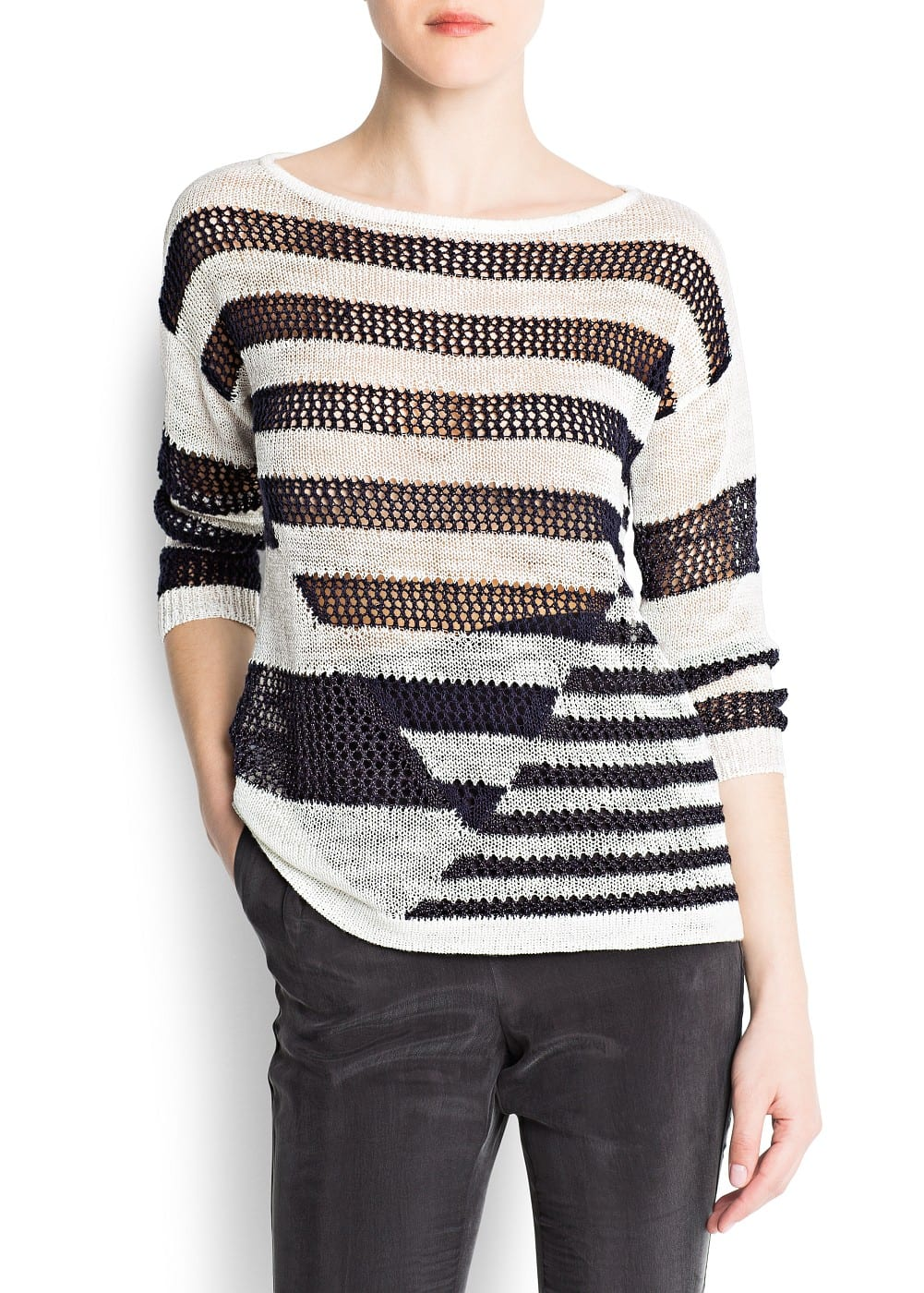 Striped mix jumper | MANGO