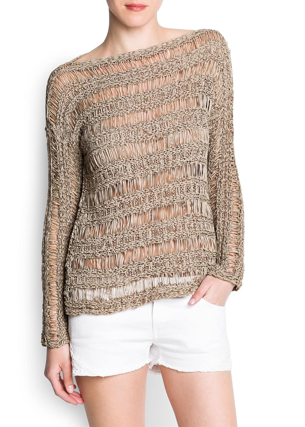 Open knit jumper | MANGO