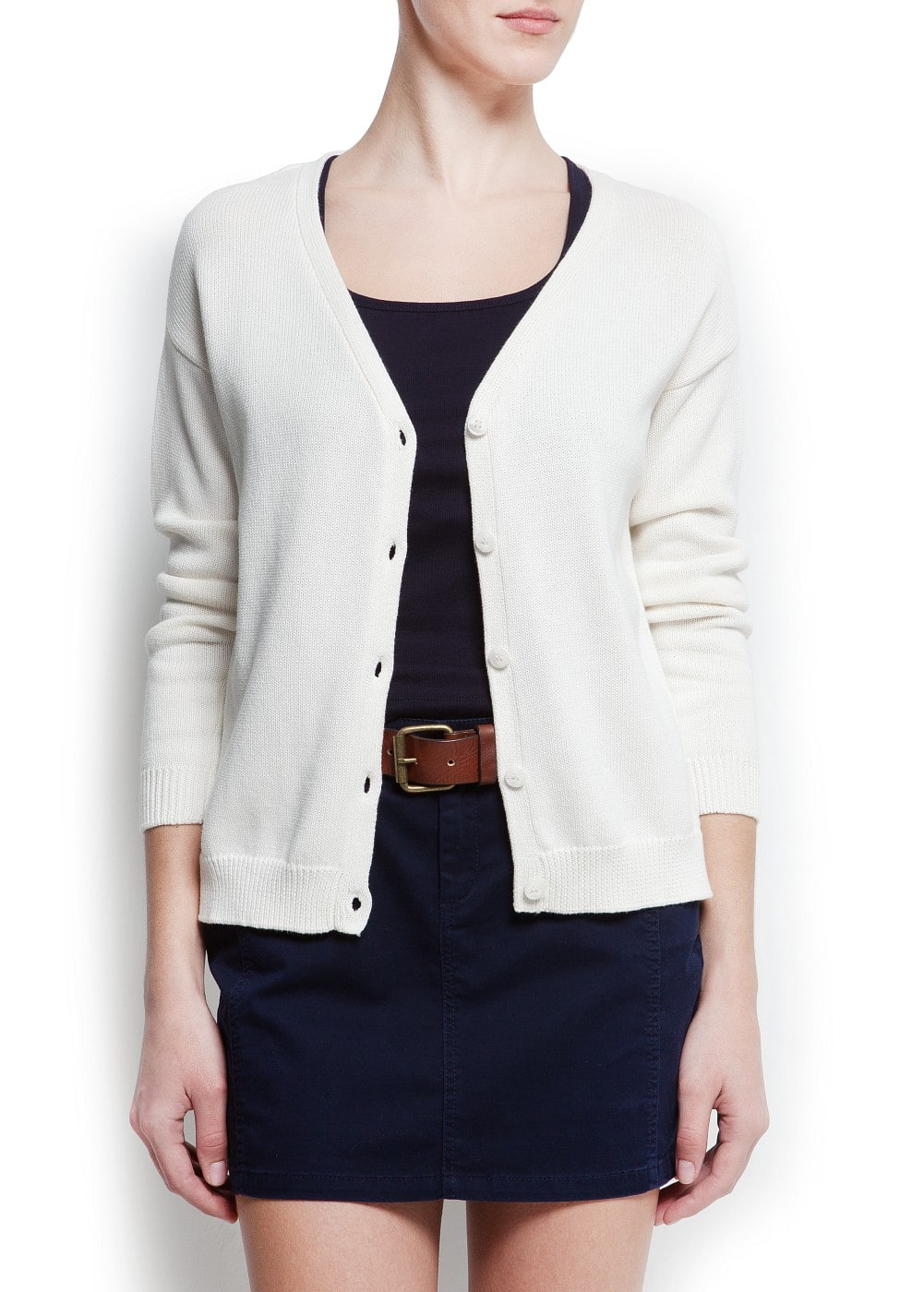 Oversized cotton cardigan | MANGO