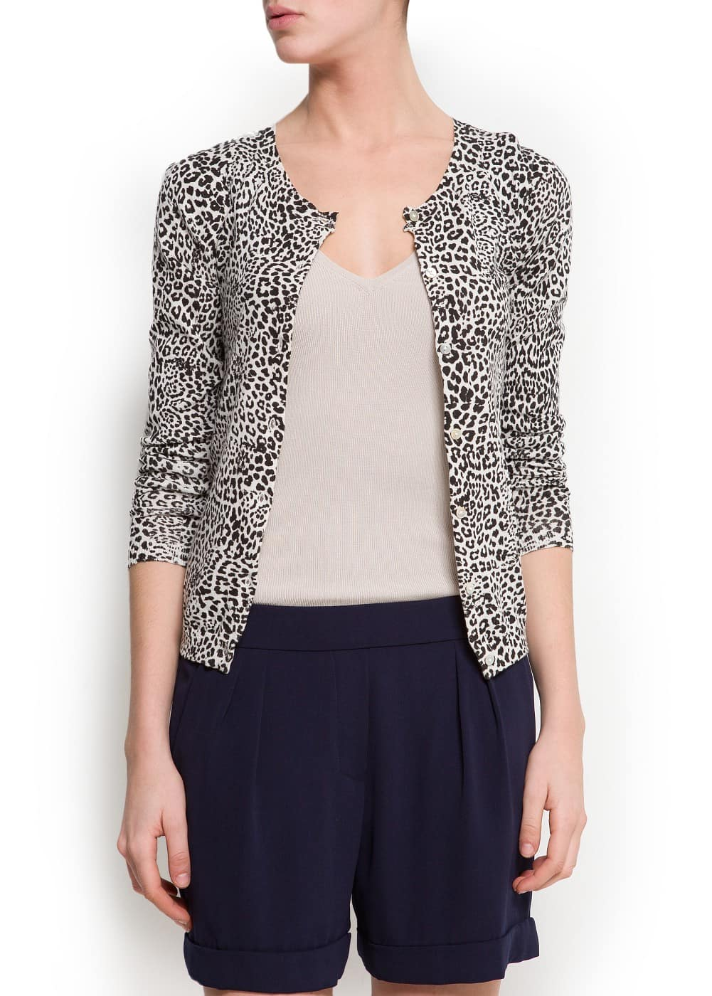 Animal print cardigan | MANGO