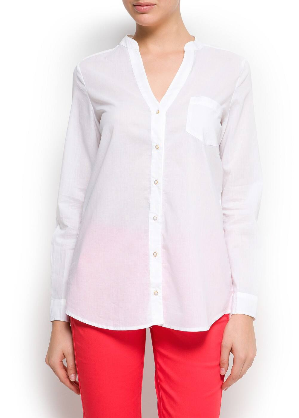 Cotton blouse | MANGO