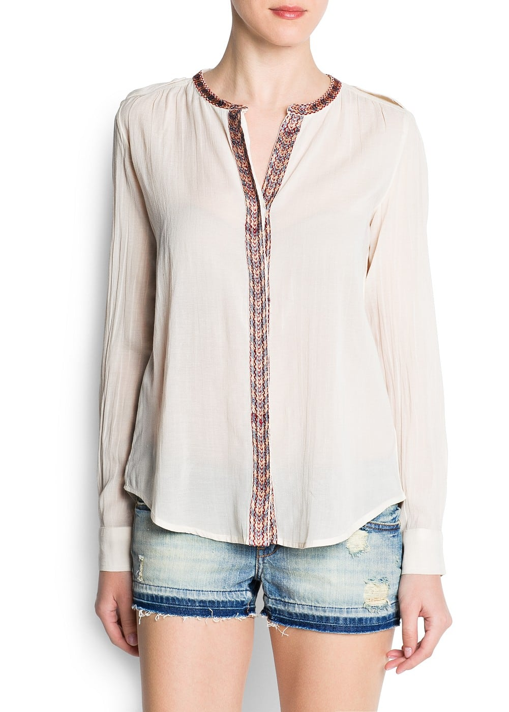 Ethnic edges blouse | MANGO