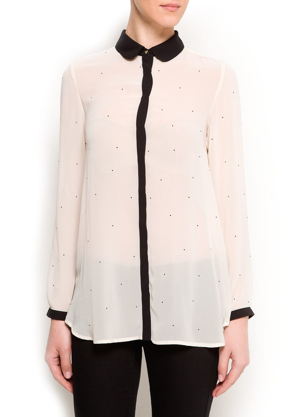 Strass dots blouse | MANGO