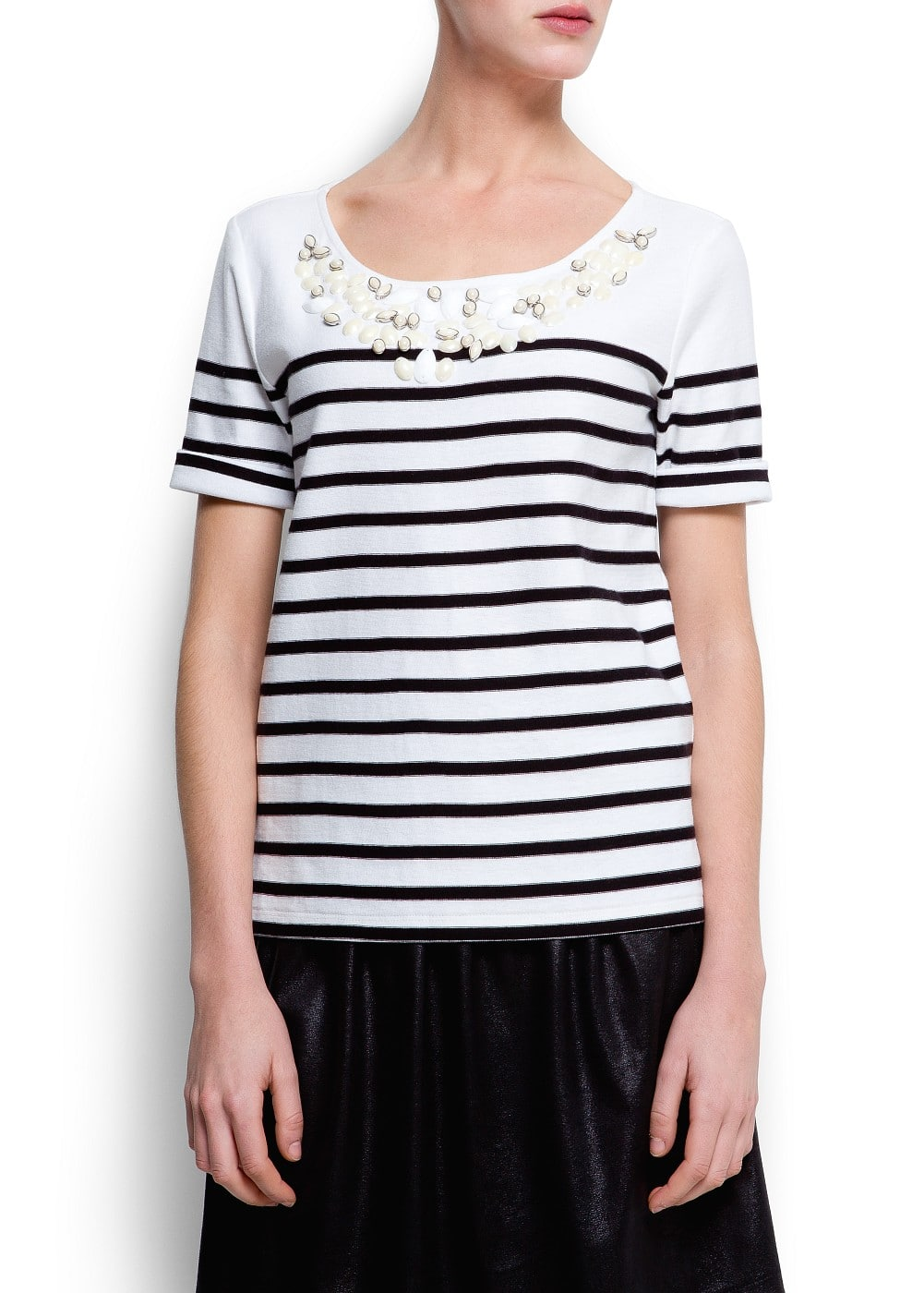 Jewell striped t-shirt | MANGO