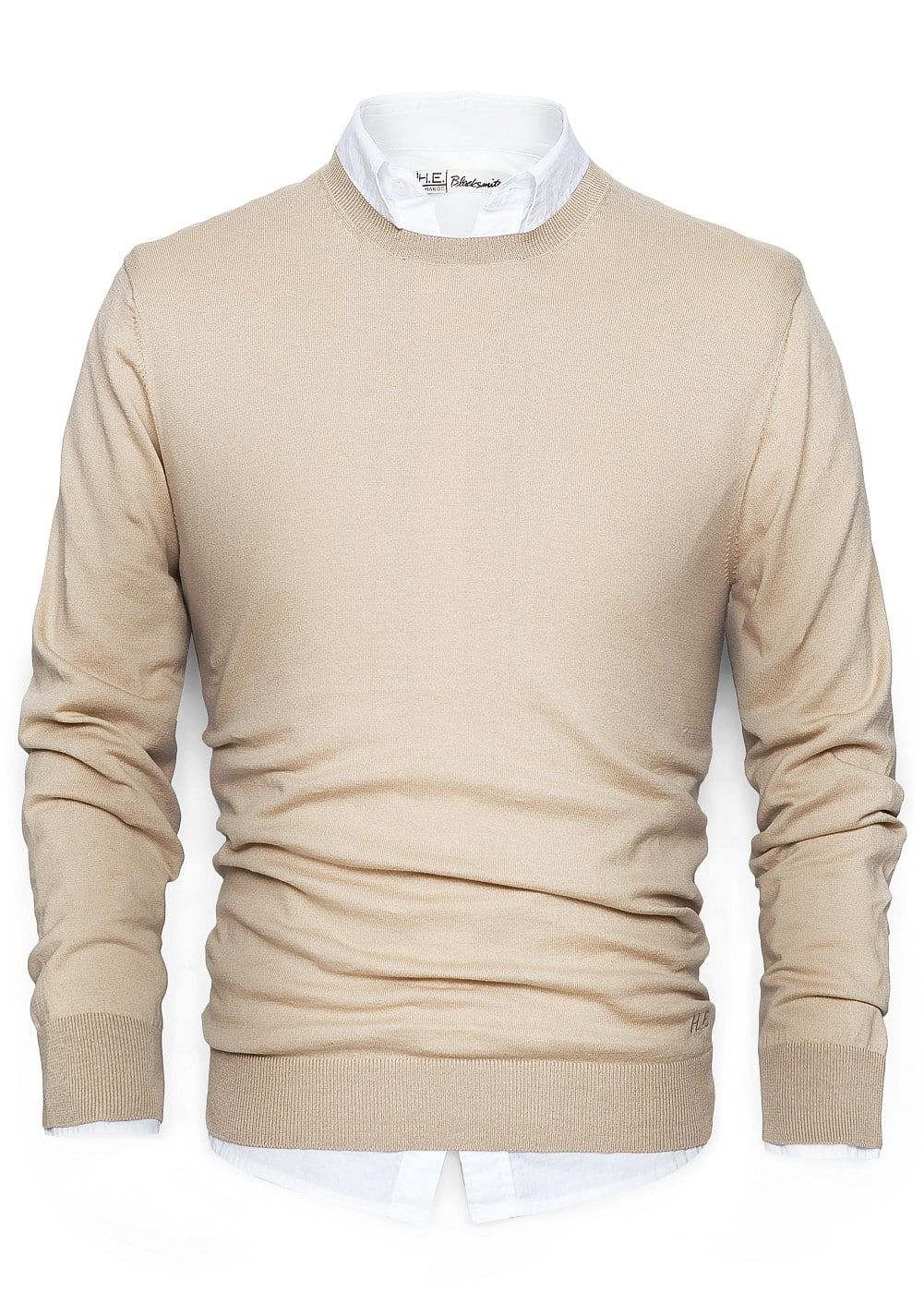 Cotton crew neck sweater | MANGO MAN
