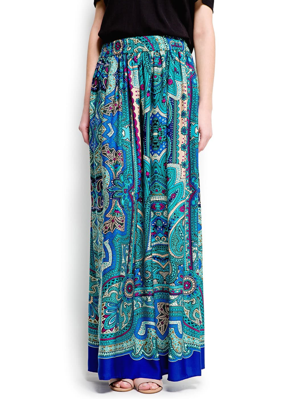 Paisley print long skirt | MANGO