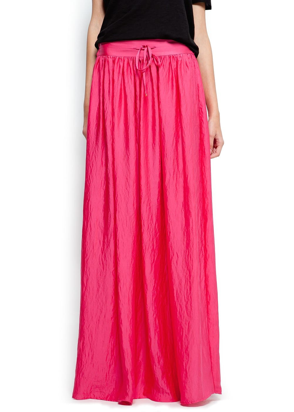 Satin long skirt | MANGO