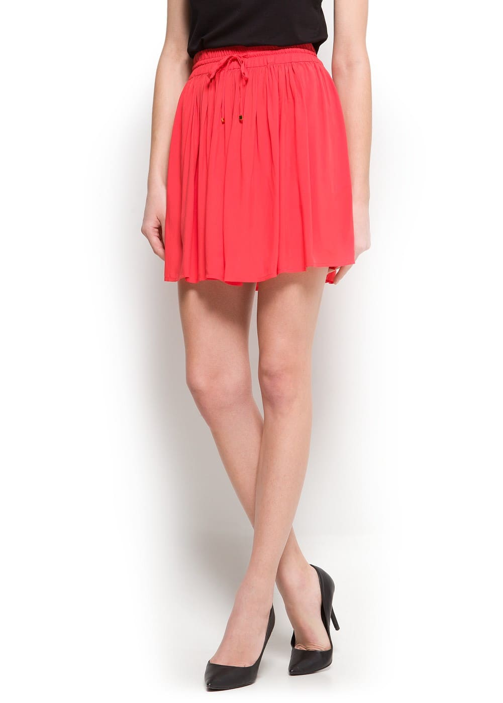 Pleated miniskirt | MANGO