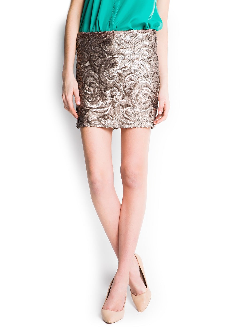 Sequined miniskirt | MANGO