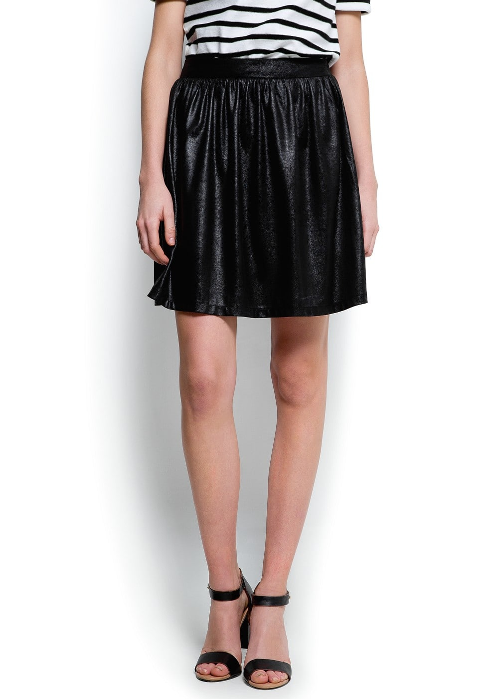 Shiny full skirt | MANGO