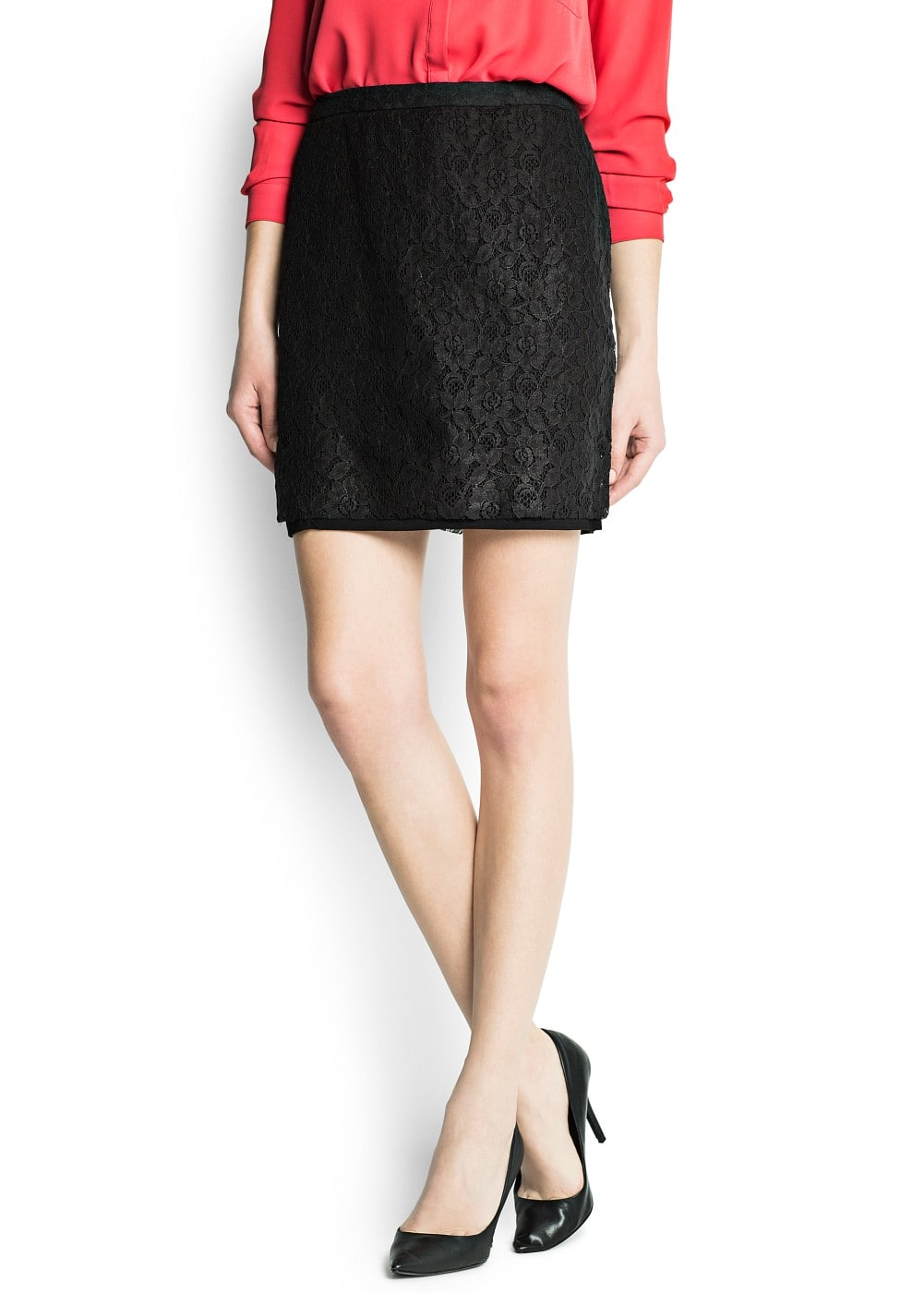 Lace pencil skirt | MANGO