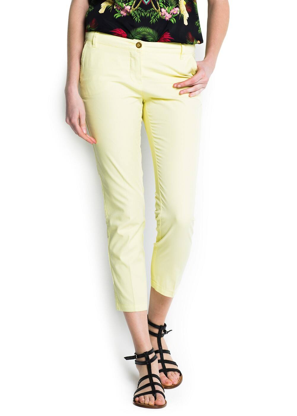 Cotton chino trousers | MANGO