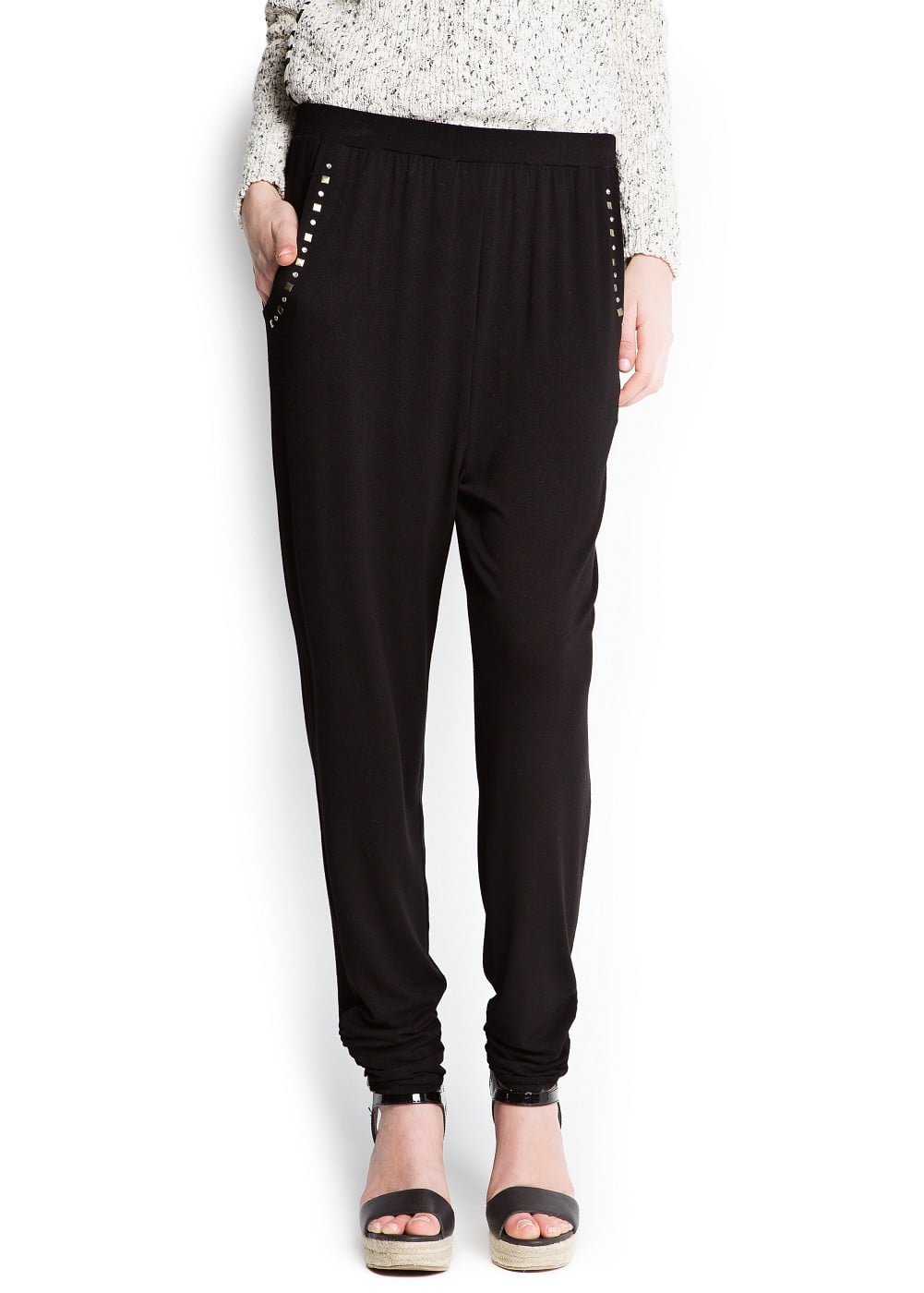 Studded baggy trousers | MANGO